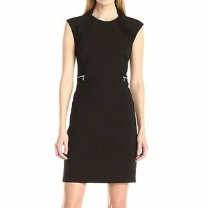 Calvin Klein Suede Side Panel Zip Dress